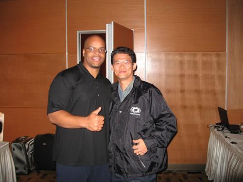 With Stephen Pierce